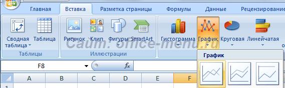 Пиктограмма вставки графика